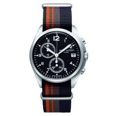Hamilton H76552933 Mens Pilot Pioneer Watch Black Dial Tricolor Band: Watches: Amazon.com