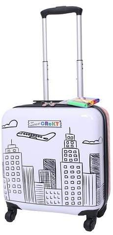 "Crckt 14"" Hardside Spinner Carry On Suitcase - Drawable, $44.99     A.L. Included"
