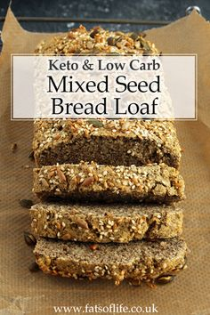 Paleo) – The Fats of Life Mixed Seed Bread (Keto; Paleo) – The Fats of Life Almond Recipes, Low Carb Recipes, Bread Recipes, Whole Food Recipes, Healthy Recipes, Healthy Food, Keto Mug Bread, Best Keto Bread, Low Carb Bread