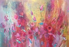 "Saatchi Art Artist Claire Westwood; Painting, ""Vibrant"" #art"