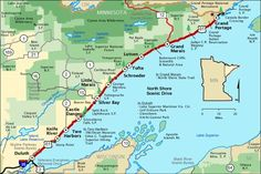 Minnesota: Lake Superior's North Shore Lake Superior North Shore Tourist map State Parks, Minnesota Camping, Duluth Minnesota, Grand Marais Minnesota, Minnesota Funny, Rive Nord, Lake Superior Agates, Tourist Map, Great Lakes