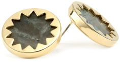 House of Harlow 1960 Sunburst Stud Earrings with Labradorite House of Harlow 1960. $55.00. Labradorite. Made in China. Hand assembled Made in CN. Hand assembled. Yellow-gold plated