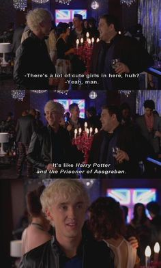 Get him to the Greek #harrypotter #tomfelton <-----look at Tom's face when he mispronounced Azkaban!