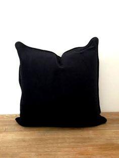 """Black Velvet Throw Pillow, 20"""" by 20"""" , Black Velvet Cushion, FREE SHIPPING"""