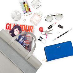 La Mania GISELE shopper bag! What's in your spring bag? #LaMania #Bag