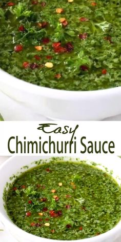 Easy Chimichurri Sauce Recipe with Parsley Oregano Garlic and Lime. Mexican Food Recipes, Vegetarian Recipes, Cooking Recipes, Healthy Recipes, Paleo Food, Easy Bread Recipes, Banana Bread Recipes, Vegan Recipes Plant Based, Healthy Sauces
