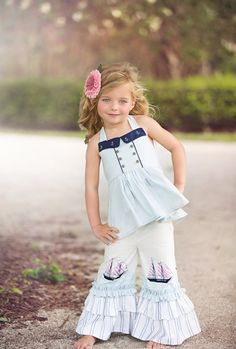 Violette Field Threads Lucy Pants Pattern from From Violette Field Threads Little Girl Outfits, Kids Outfits, Cute Outfits, Pants Pattern, Sewing For Kids, Couture, Sewing Patterns, Clothing Patterns, Sewing Ideas