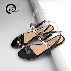 905f97ddc166ed Slippers · fashion big size 40 41 summer shoes woman thong flip flops girls  flats slides soft PU