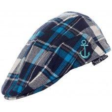 5834992286a Sourpuss Blue Tartan Flat Cap Infant Sourpuss Clothing