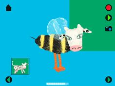 Who goes buzz? The cow? The bird? ... meli-melo game in kids app