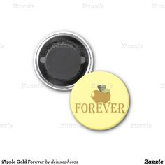 iApple Gold Forever 2 Inch Square Magnet