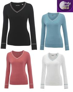 Today's Deal: Ashworth Ladies Cotton Sweater – Black/Baby Blue/Guava/White http://dailygolfdeal.co.uk/deals/deals/ashworthladies/