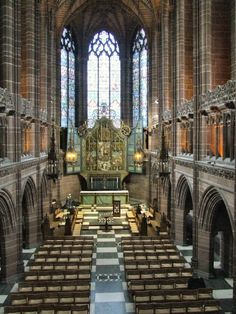 """""""Liverpool Anglican Cathedral"""" by Thomas Crossley at PicturesofEngland.com"""