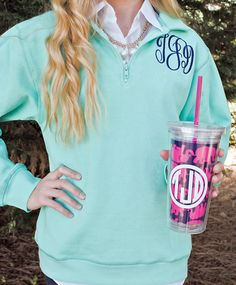 Hey, I found this really awesome Etsy listing at https://www.etsy.com/listing/188609777/monogram-sweatshirt-14-zip-personalized