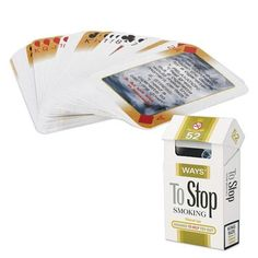 52 Ways To Stop Smoking Playing Cards to Help Quit/Give Up