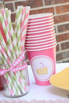 Trendy Ideas for baby shower party ideas pink lemonade Baby Shower Sweets, Baby Shower Party Favors, Baby Shower Cookies, Baby Shower Parties, Dad Birthday Cakes, Birthday Parties, Birthday Ideas, Birthday Nails, Birthday Bash