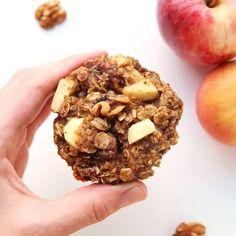 Pumpkin Breakfast Cookies VIDEO - gluten free, clean eating - Leelalicious Pumpkin Breakfast Cookies, Breakfast Cookie Recipe, Healthy Breakfast Recipes, Healthy Snacks, Breakfast Cupcakes, Nutritious Breakfast, Healthy Recipes, Healthy Breakfasts, Healthy Sweets