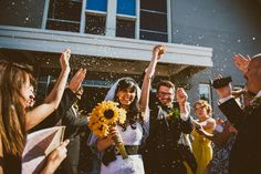 The happiest of wedding exits! Rodger Obley Photography @Rodger Obley