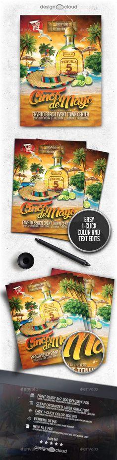Cinco De Mayo Beach Party Flyer Template