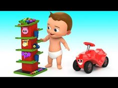 Learn Colors for Children with Baby Fun Play Cartoon Animals Water Balloons 3D Kids Learning Edu Vid - YouTube