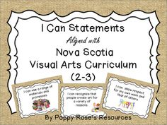 These I Can posters are aligned with the Nova Scotia Visual Arts curriculum and they contain graphics so little learners will have a clear understanding of what is expected of them.The posters are in a burlap design background that would compliment any class decor theme.This set is for Grade 2 and Grade 3 aligned with the Nova Scotia Curriculum.