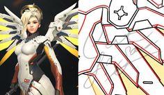 PDF Vector Pattern Blueprint  Mercy's Wings  by CestLaSara on Etsy