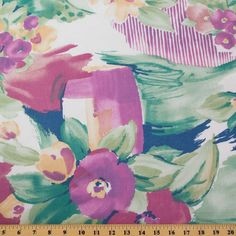 "Large impressionistic Pink Floral ""Satin Roses"" By Kimiko Ikrda for 5t – Fabric Cult"