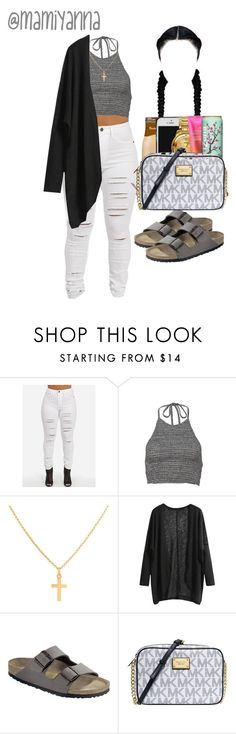 """""""Jealous Type - Bahja Rodriguez"""" by mamiyanna ❤ liked on Polyvore featuring Sterling Essentials, Birkenstock and Michael Kors"""