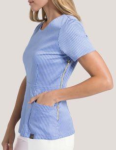 Women's Scrub Tops - Medical Scrubs by Jaanuu Dental Scrubs, Medical Scrubs, Pediatric Scrubs, Nursing Scrubs, Scrubs Outfit, Scrubs Uniform, Scrub Shoes, Stylish Scrubs, Cute Scrubs