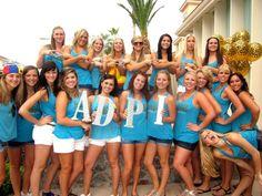 Alpha Delta Pi at University of Arizona #AlphaDeltaPi #ADPi #BidDay #letters #sorority #Arizona