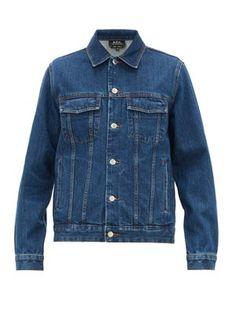Denim Jacket Men, Man United, Point Collar, Straight Cut, Friends In Love, Cotton, How To Wear, Jackets, Stuff To Buy
