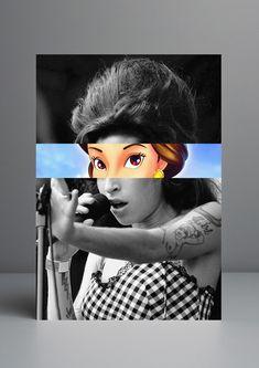 Amy Whinehouse animada - venha conferir os trabalhos do artista português Rui Pinho, inspirado na cultura pop