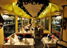 Fondue Tram, Zurich, Switzerland    Hop aboard Zurich's steamy fondue tram, a seasonal pop-up stübli that runs from October to March along the city's actual tram routes, whizzing past Christmas markets