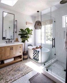home loft Bathroom Inspiration // Loft Interior House Design, Loft Interiors, Home Remodeling, Cheap Home Decor, Bathroom Renovations, Bathrooms Remodel, Boho Bathroom, Bathroom Renovation, Bathroom Inspiration