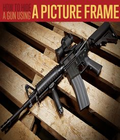 How To Use A Picture Frame For Hidden Gun Storage