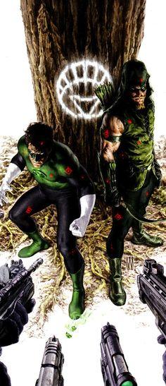 Green Arrow and Green Lantern Green Lantern Green Arrow, Green Lantern Corps, Green Lanterns, Comic Book Characters, Comic Character, Comic Books, Comic Art, Dc Comics Art, Marvel Dc Comics