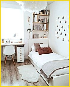 Small Room Bedroom, Room Ideas Bedroom, Bedroom Inspo, Girls Bedroom, Diy Room Decor, Diy Bedroom, Home Decor, Bedroom Storage, Bedroom Designs