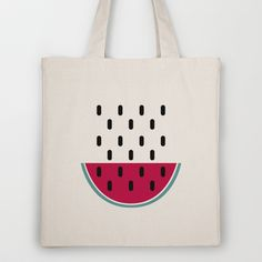 Watermelon Tote Bag by According to Panda