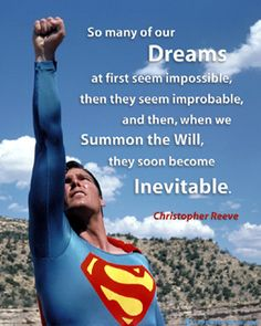 Image result for superman with inspiration christopher reeve