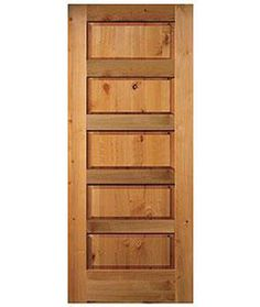 Classic Panel Solid Wood Interior Doors Unfinished Knotty Pine
