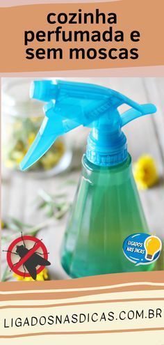 How to Scare Flies Out of the Kitchen and Leave It Scented Diy Cleaning Products, Cleaning Hacks, Cleaning Supplies, Urban Farmer, Flylady, Home Hacks, Kitchen Hacks, Spray Bottle, Clean House