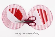 Sew Peppermint Holiday Themed Mug Rug Drink Coasters with this tutorial from Nancy Zieman   Sewing With Nancy