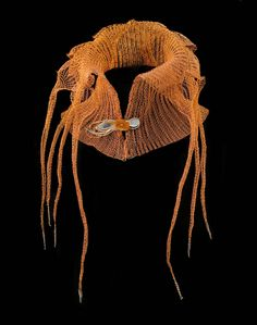 Arline M. Fisch, born in New York in 1931, Collar - Copper, silver, carnelian  50 x 31 x 24.5 cm