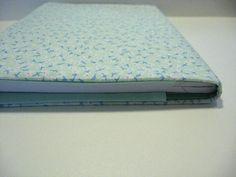 Passo a passo para fazer capas de tecido para cadernos