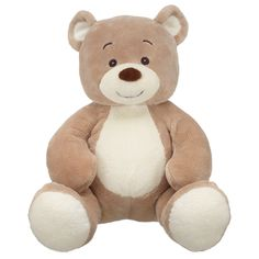 Build a Bear velvet teddy. A safe friend for your baby. Allergen free.. short hairs that don't come off and accidentally get inhaled. The quality on this thing is excellent and make an excellent security object.