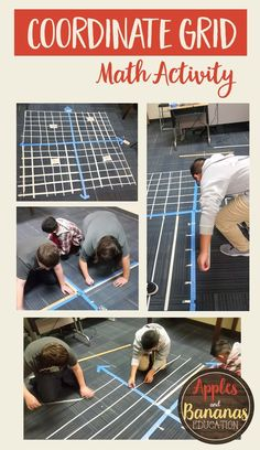 Create a coordinate grid with your class. Great team-building activity to introduce ordered pairs and the four quadrants of the coordinate grid....I love this idea so much. Maybe have each table create one!