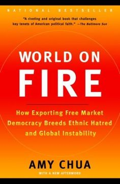 World on Fire: How Exporting Free Market Democracy Breeds Ethnic Hatred and Global Instability by Amy Chua http://www.amazon.com/dp/0385721862/ref=cm_sw_r_pi_dp_who7tb044C0FS