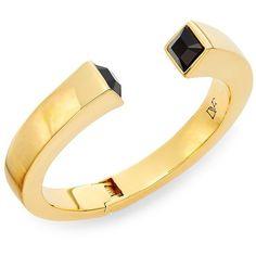 Diane von Furstenberg Cubism Swarovski Crystal Geometric Bracelet ($50) ❤ liked on Polyvore featuring jewelry, bracelets, swarovski crystals jewelry, geometric jewelry, yellow jewelry, yellow bangles and swarovski crystal jewellery