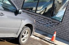 A vehicle partially went through the wall of the Northern Credit Union's Arthur Street branch.  #tbay
