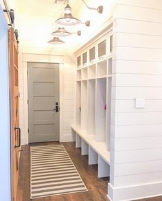 "312 Likes, 36 Comments - Ashley  》Our Modern Antebellum (@our_modern_antebellum) on Instagram: ""{Mudroom}  I love being able to just walk in the door from the garage and throw all of…"""